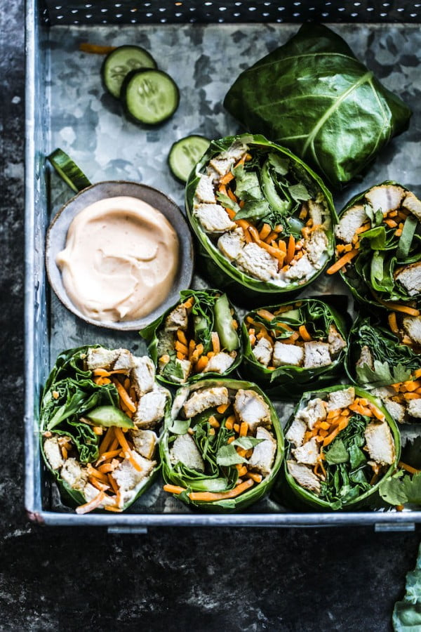 Paleo Banh Mi Collard Wraps #lunch #healthy #food #snack #recipe