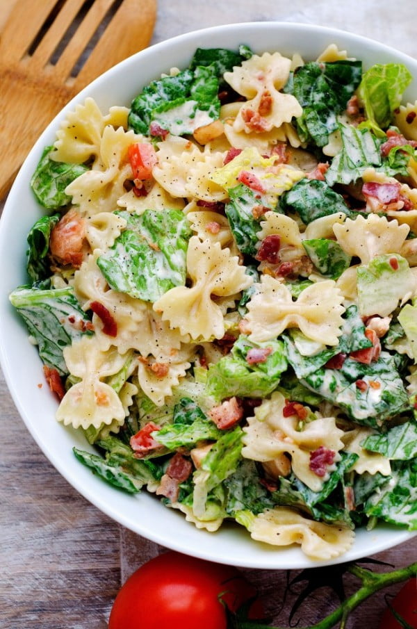 BLT Pasta Salad #lunch #healthy #food #snack #recipe