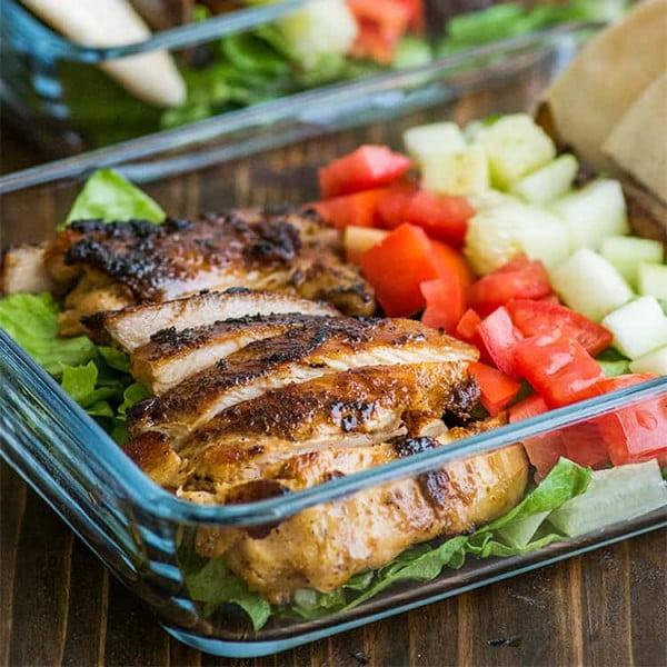 Easy Chicken Shawarma Salad #lunch #healthy #food #snack #recipe