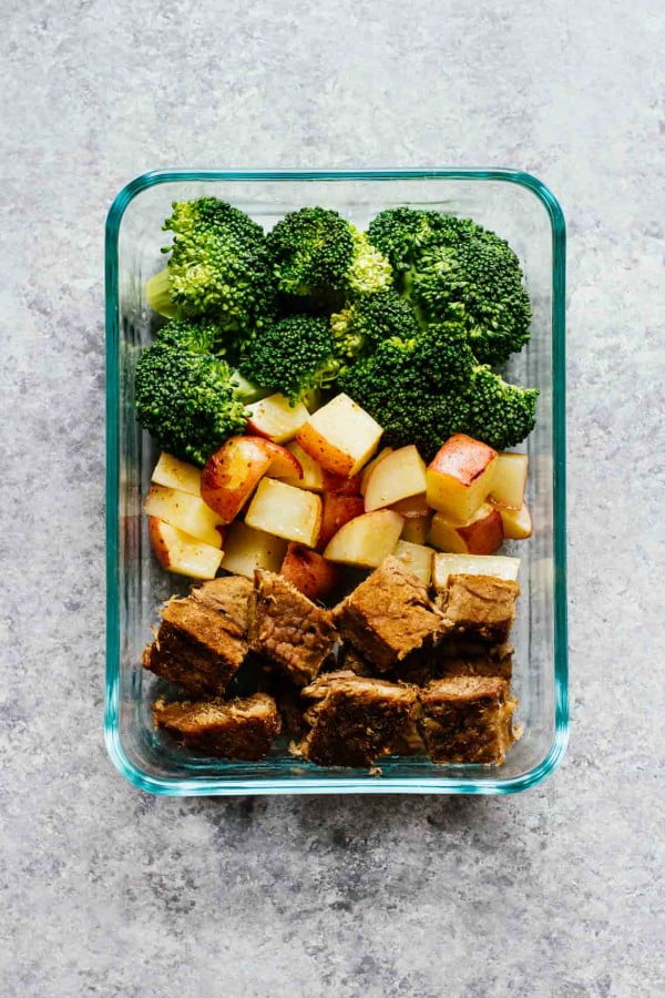 Steak & Potatoes Meal Prep Bowls #lunch #healthy #food #snack #recipe