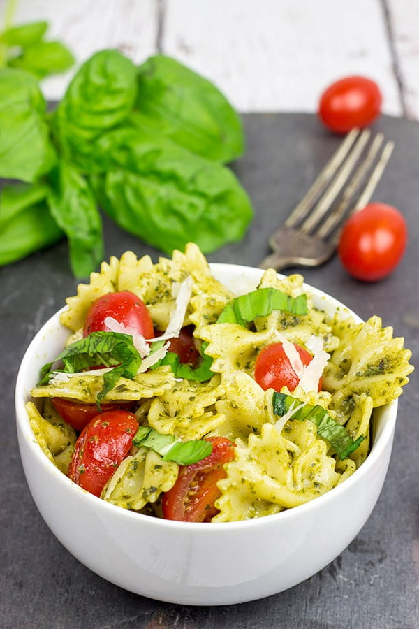 Pesto Pasta with Grilled Chicken #lunch #healthy #food #snack #recipe