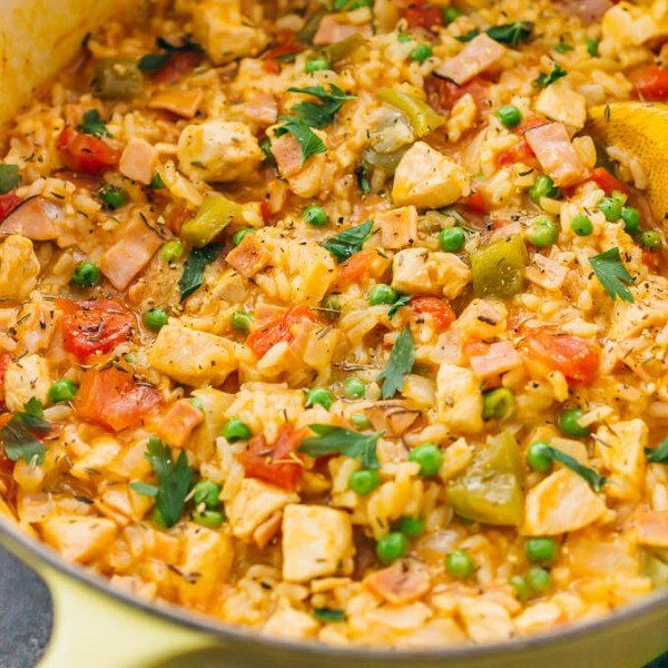 Chicken And Rice (One Pot Dinner Recipe) #healthy #onepot #dinner #food #recipe
