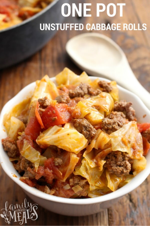 One Pot Unstuffed Cabbage Rolls #healthy #onepot #dinner #food #recipe