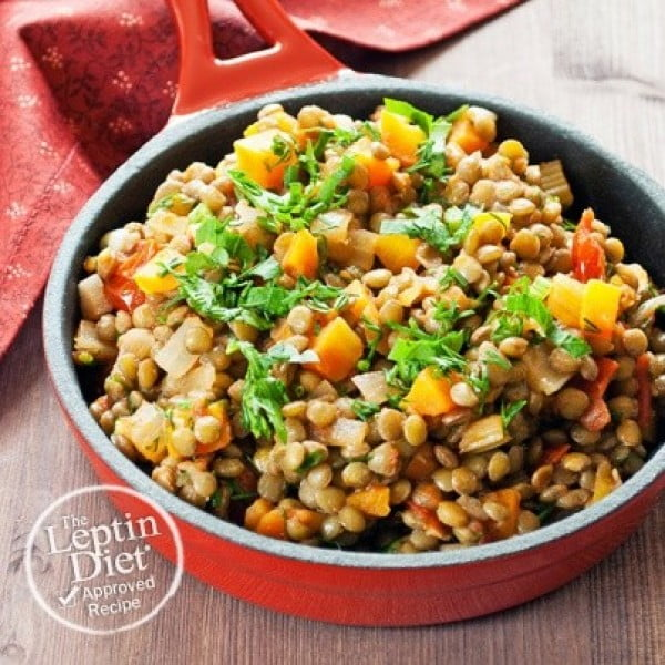 Warm Lentil Salad #lunch #highprotein #healthy #recipe