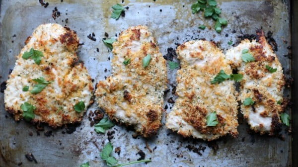 Healthy Baked Cheddar Ranch Chicken #lunch #highprotein #healthy #recipe