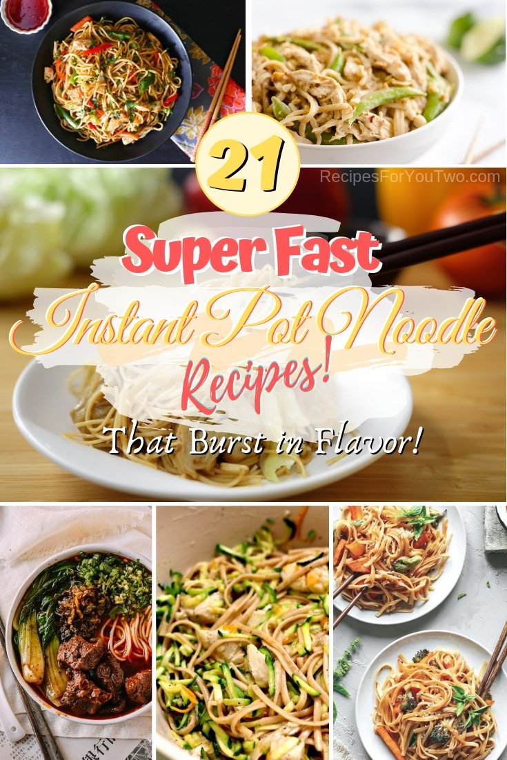 Make the noodles to please the crown super fast. These are great instant pot noodle recipes! #instantpot #pressurecooker #dinner #noodles #recipe