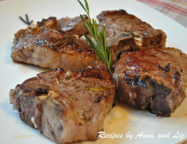 Grilled Lamb Chops with Garlic, Lemon, Wine and Herbs #lamb #dinner #recipe