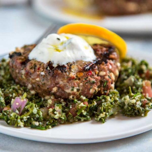 Mediterranean Feta Lamb Burgers #lamb #dinner #recipe