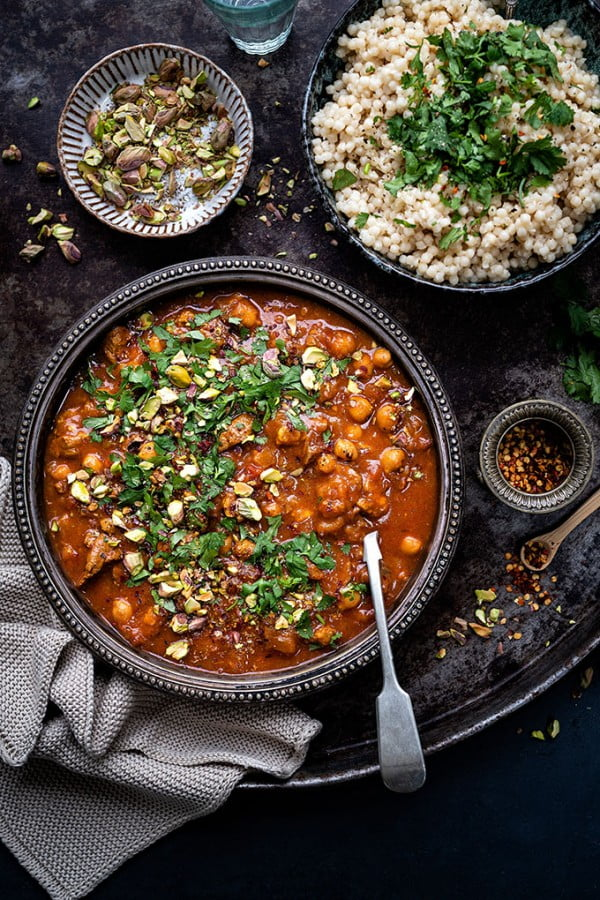 Instant Pot Moroccan lamb tagine with apricots #lamb #dinner #recipe
