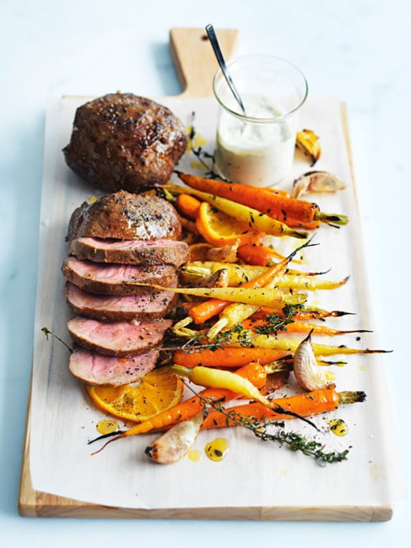 Mini Lamb Roasts With Honey Orange Carrots #lamb #dinner #recipe