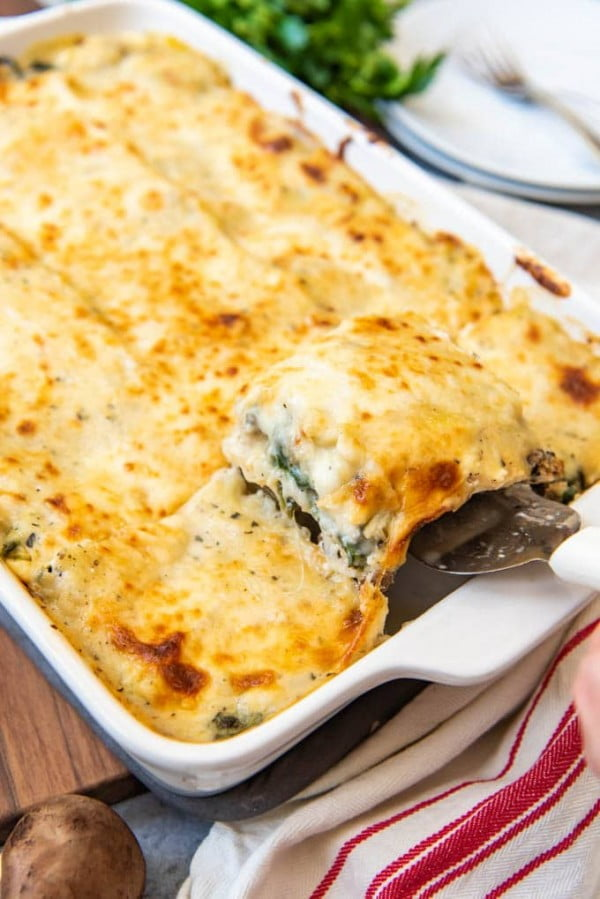 White Chicken Spinach Lasagna #lasagna #dinner #food #recipe