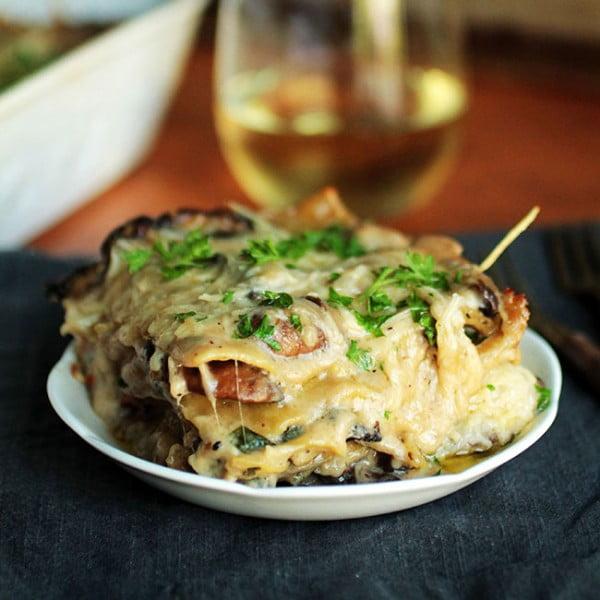 Mushroom Spinach Lasagna #lasagna #dinner #food #recipe