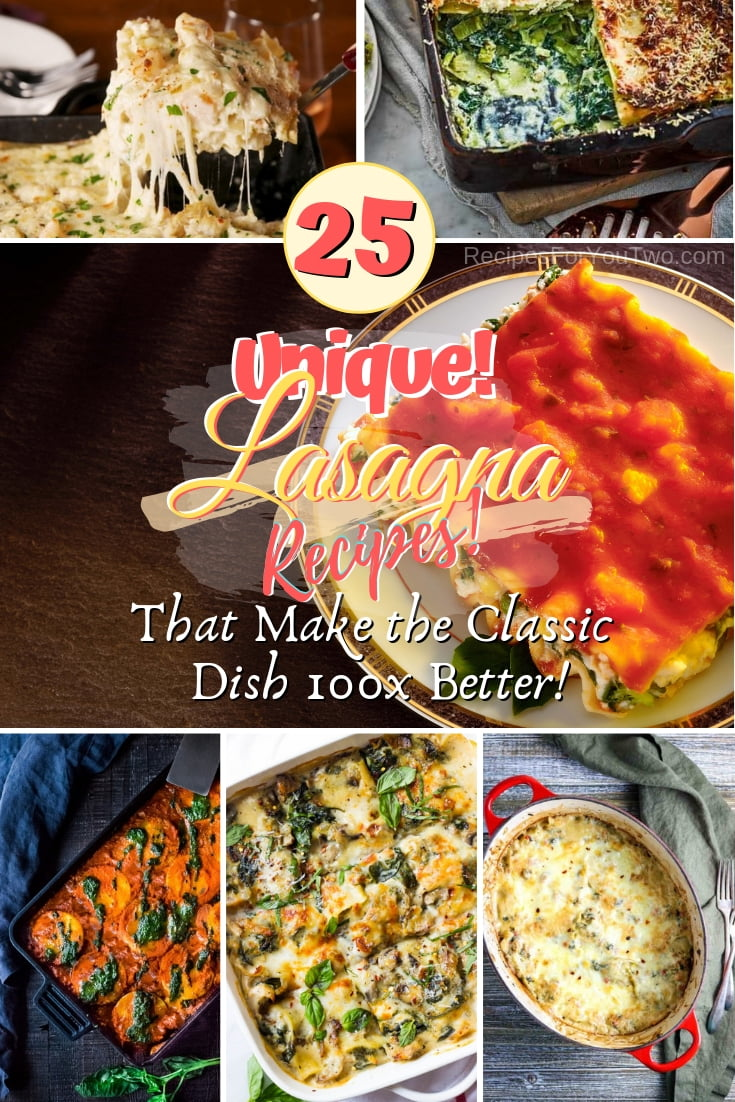 Learn to make Lasagna 100x better with these amazing recipes. Great ideas for dinner! #lasagna #dinner #food #recipe