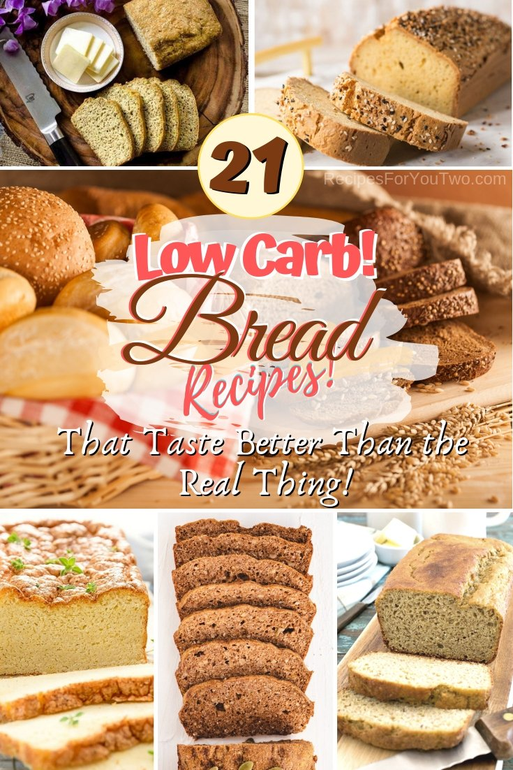 Enjoy your bread without the carbs. These terrific recipes taste even better than the real bread! #recipe #bread #dinner #lunch #breakfast