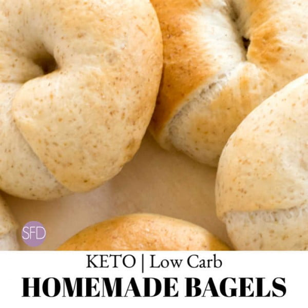 Low Carb Homemade Bagels #lowcarb #bread #dinner #breakfast #lunch #recipe