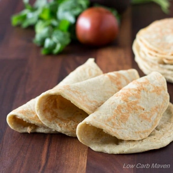 Almost Zero Carb Low Carb Wraps #lowcarb #bread #dinner #breakfast #lunch #recipe