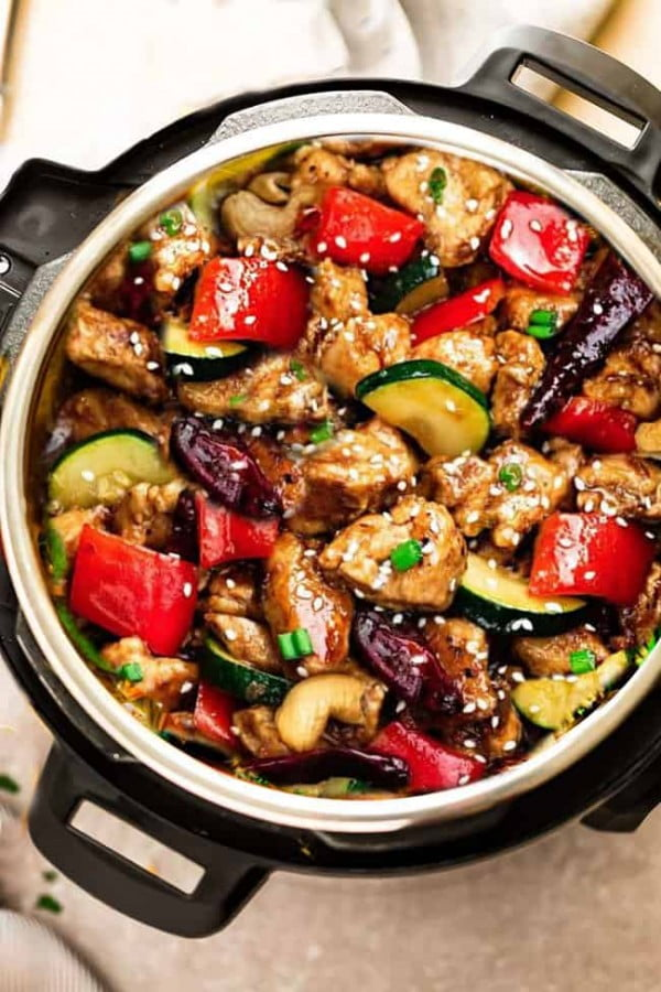 Instant Pot Kung Pao Chicken #lowcarb #instantpot #dinner #recipe #food
