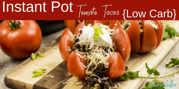 Instant Pot Tomato Tacos {Low Carb} #lowcarb #instantpot #dinner #recipe #food