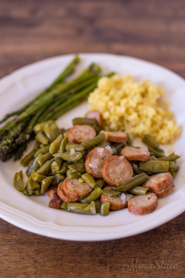 Farmhouse Beans & Sausage #lowcarb #instantpot #dinner #recipe #food