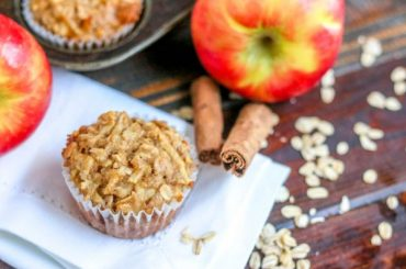 Low Fat Apple Oatmeal Muffins #lowfat #healthy #dessert #recipe