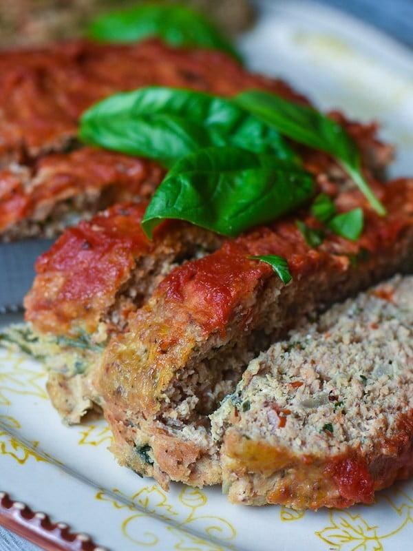 Veggie-Packed Turkey Meatloaf #meatloaf #recipe #dinner
