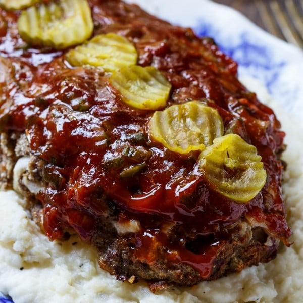 Dill Pickle Meat Loaf #meatloaf #recipe #dinner