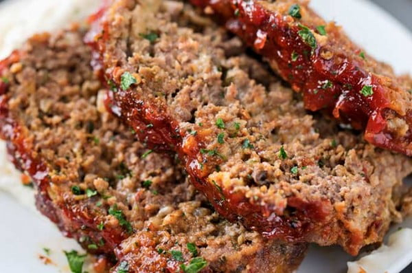 Glazed Chipotle Meatloaf Recipe #meatloaf #recipe #dinner