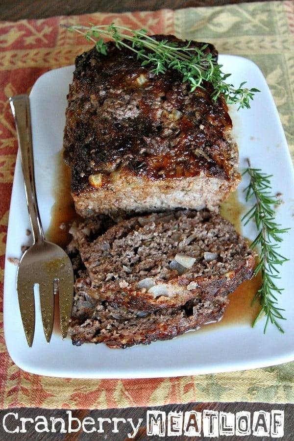 Cape Cod Cranberry Meatloaf #meatloaf #recipe #dinner