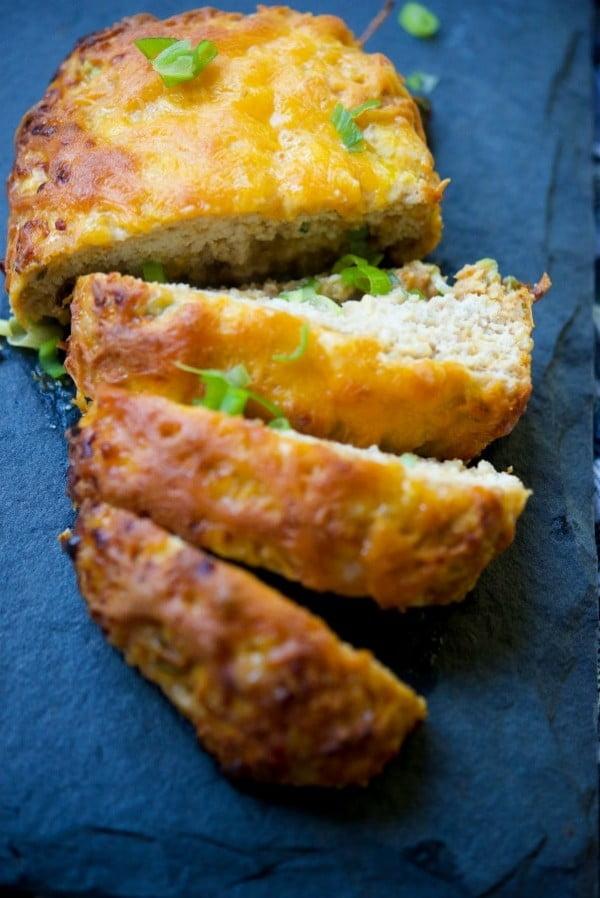 BBQ Cheddar Chicken Meatloaf {Gluten Free} #meatloaf #recipe #dinner