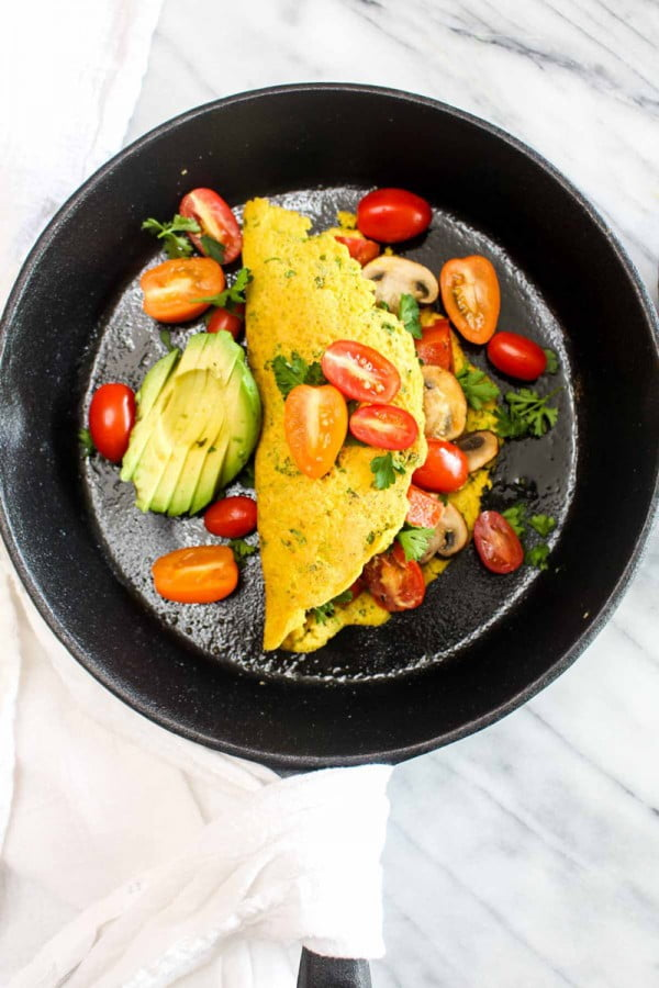 Best Ever Vegan Omelet #omelette #breakfast #eggs #recipe