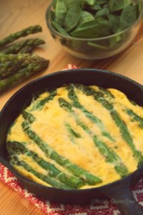 Baked Spinach and Aspargus Omelette #omelette #breakfast #eggs #recipe