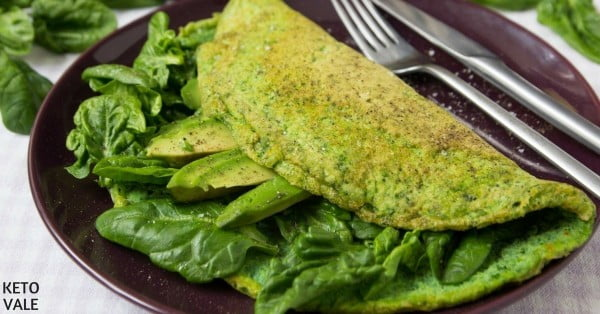 Green Omelette with Avocado for Breakfast #omelette #breakfast #eggs #recipe