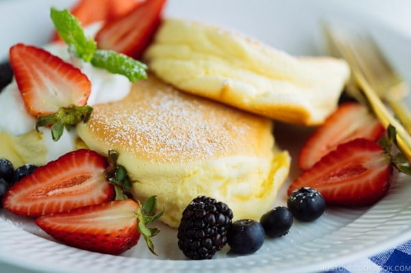 Japanese Souffle Pancake スフレパンケーキ • Just One Cookbook #pancakes #dinner #lunch #snack #food #recipe