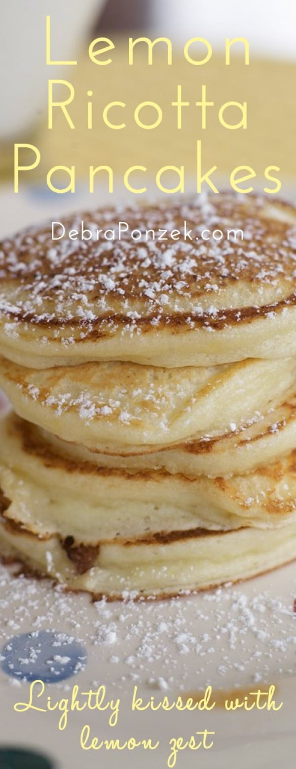 Lemon Ricotta Pancakes Recipe #pancakes #dinner #lunch #snack #food #recipe