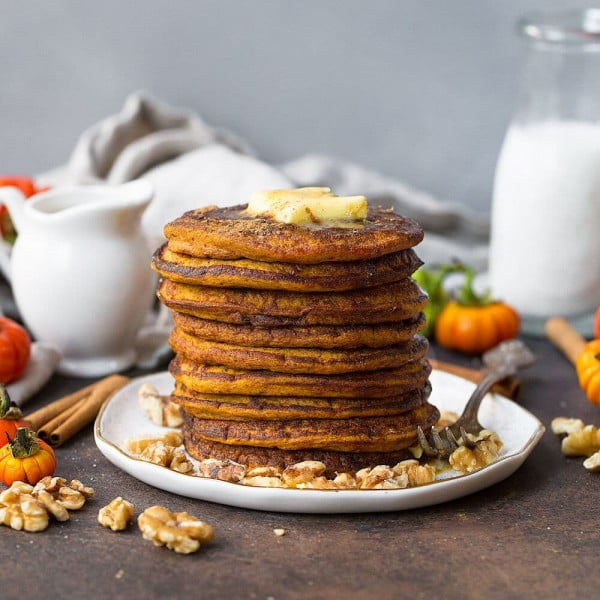 Coconut Flour Pumpkin Pancakes #pancakes #dinner #lunch #snack #food #recipe
