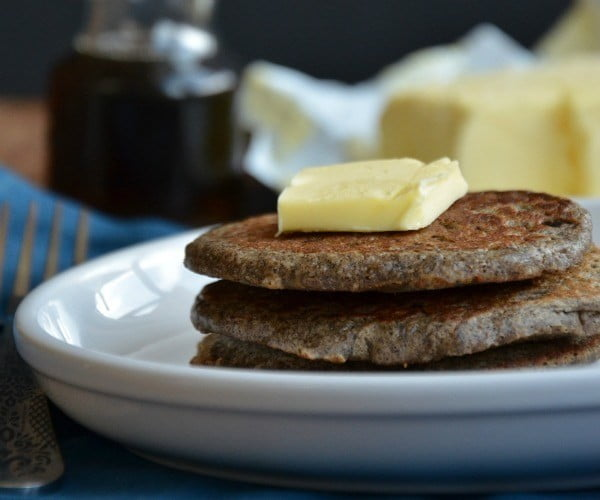 Whole Grain Buckwheat Pancakes #pancakes #dinner #lunch #snack #food #recipe