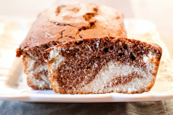 Prize-Winning Chocolate Marble Vegan Pound Cake Recipe #poundcake #cake #recipe #dessert