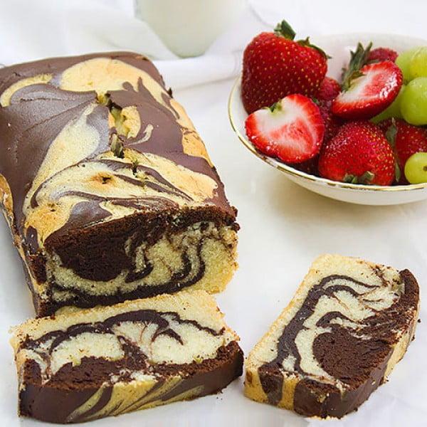 Marble Pound Cake Recipe #poundcake #cake #recipe #dessert