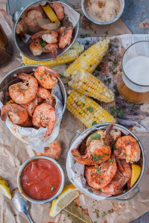 Classic Beer Boiled Peel and Eat Shrimp (Pair with a Cold One, Duh) #beer #dinner #recipe #food