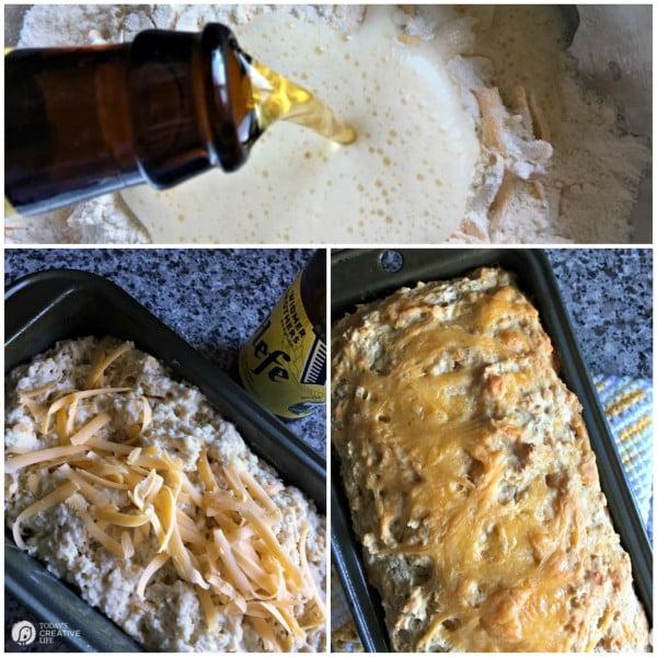 Garlic Cheese Beer Bread Recipe #beer #dinner #recipe #food