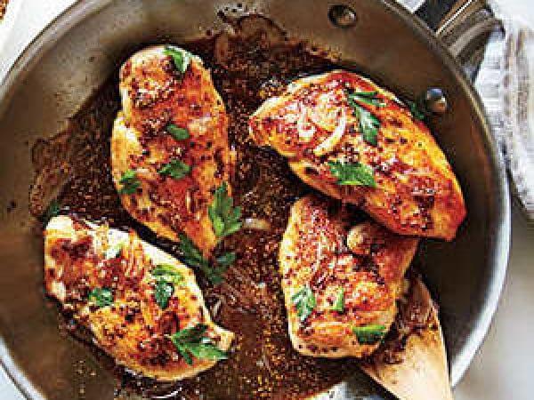 Chicken with Honey-Beer Sauce #beer #dinner #recipe #food
