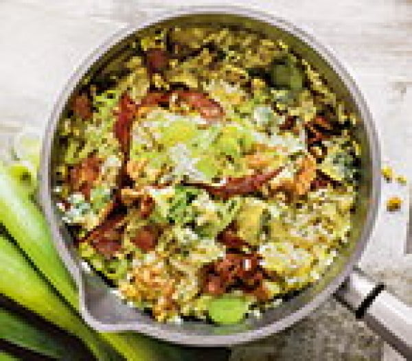 Leek & Blue Cheese Risotto Recipe #risotto #rice #dinner #recipe #food
