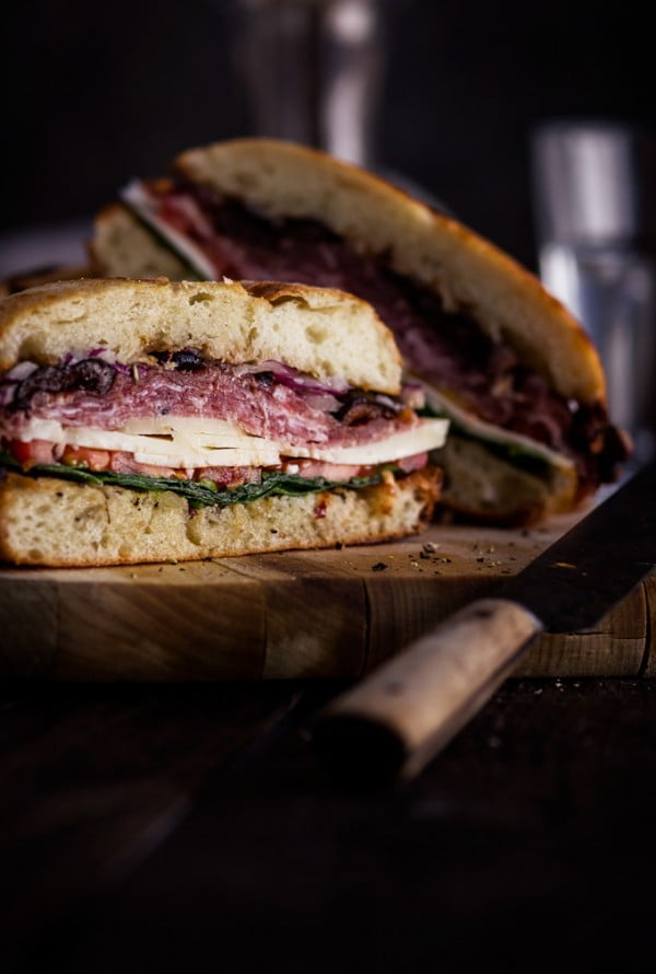 Famous New Orleans Easy Muffuletta Sandwich Recipe #sandwich #lunch #snack #recipe
