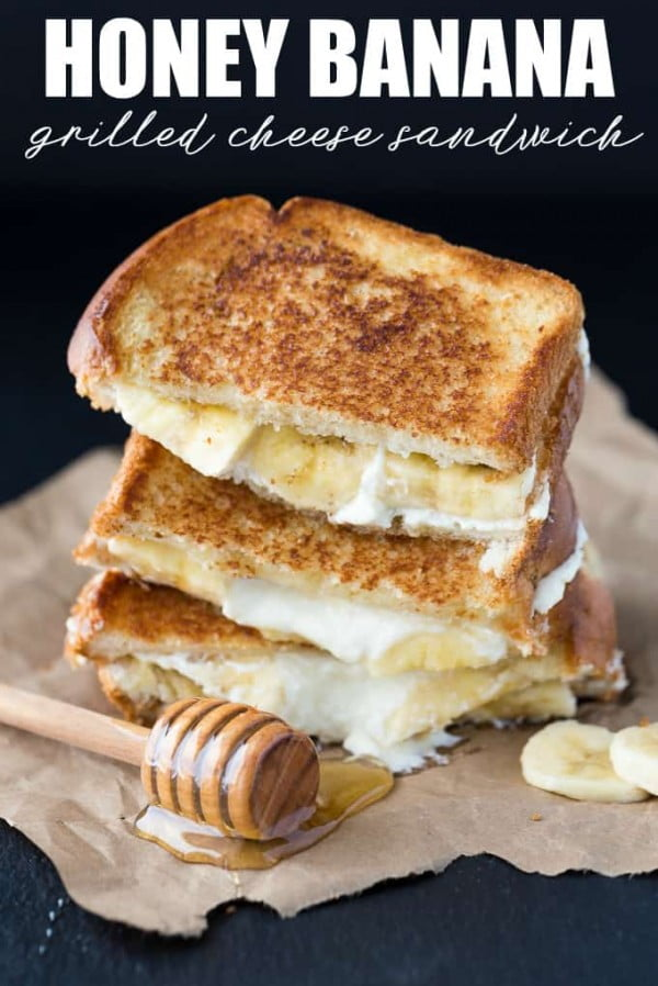 Honey Banana Grilled Cheese Sandwich #sandwich #lunch #snack #recipe