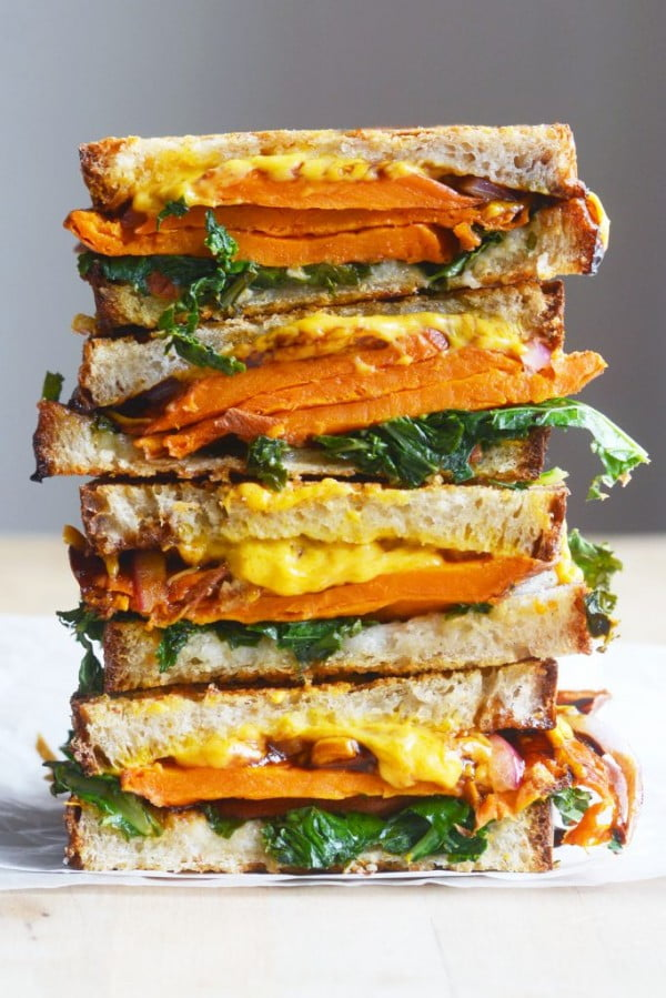 Vegan Balsamic Sweet Potato Grilled Cheese Sandwich #sandwich #lunch #snack #recipe