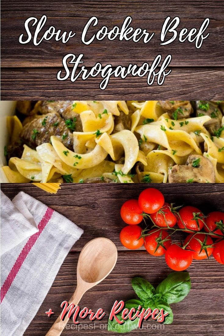 Slow Cooker Beef Stroganoff #crockpot #slowcooker #pasta #dinner #food #recipe
