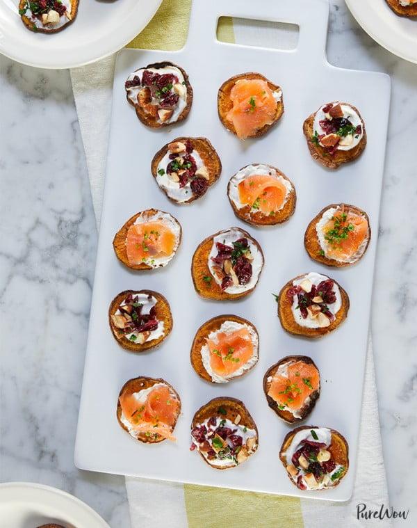 Sweet Potato Crostini #smallbites #partyfood #snack #recipe