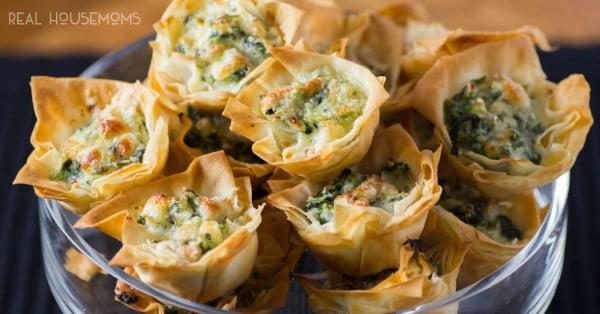 Spanakopita Tarts #smallbites #partyfood #snack #recipe