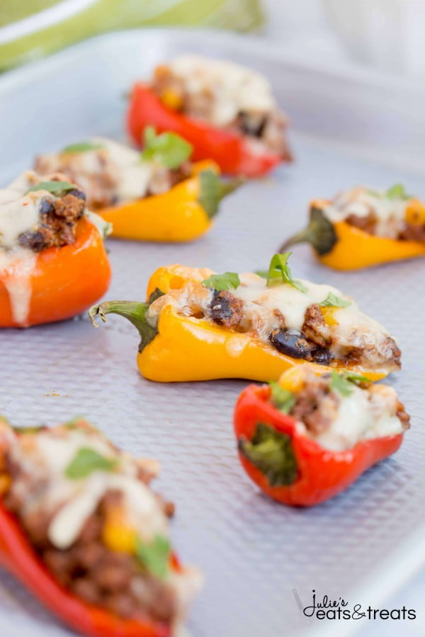 Sweet Pepper Poppers #smallbites #partyfood #snack #recipe