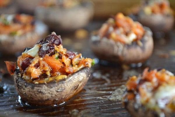 Smoked Salmon and Gouda Stuffed Mushrooms • Sage to Silver #smallbites #partyfood #snack #recipe